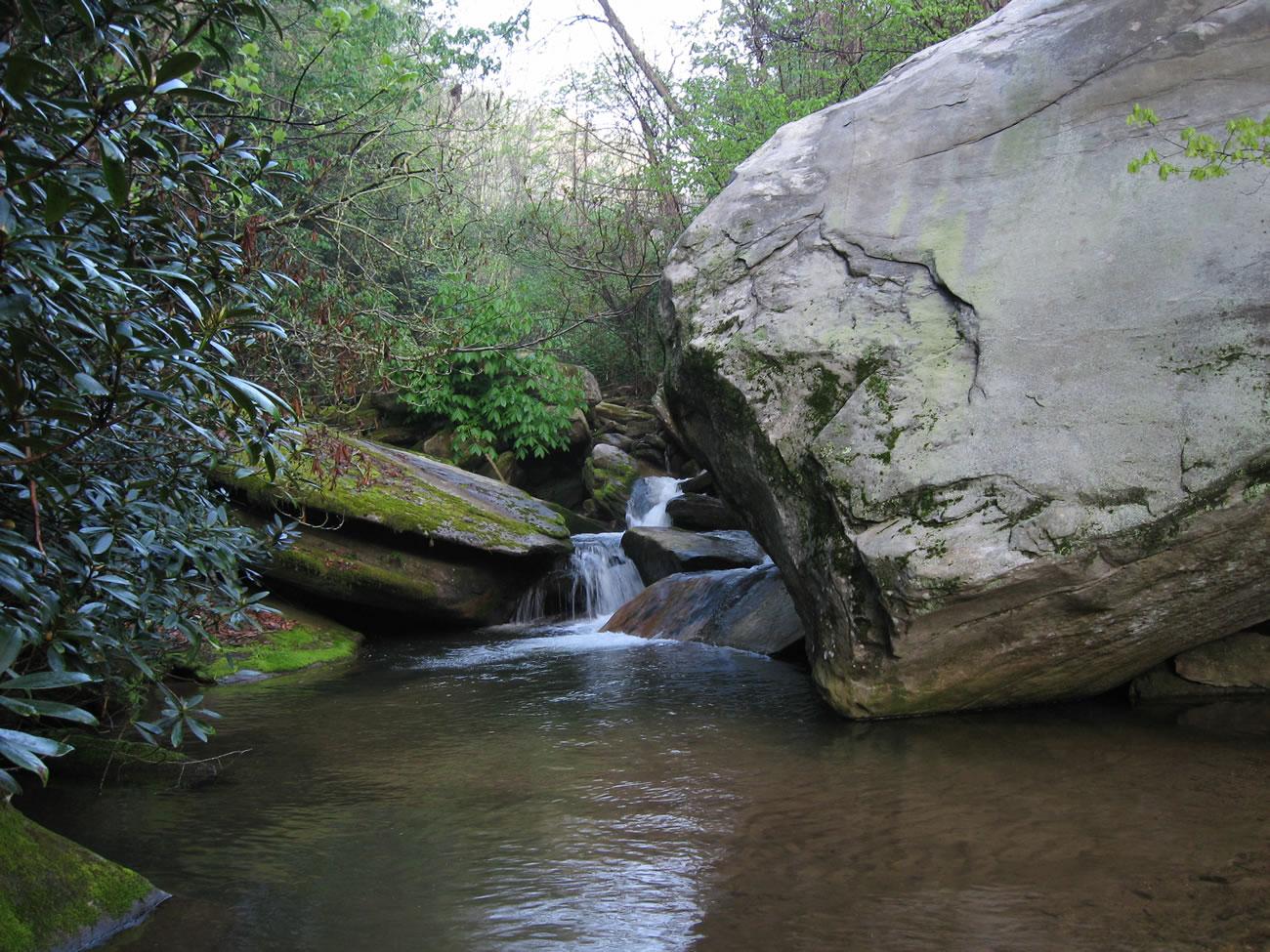 Hickory Nut Creek boulders