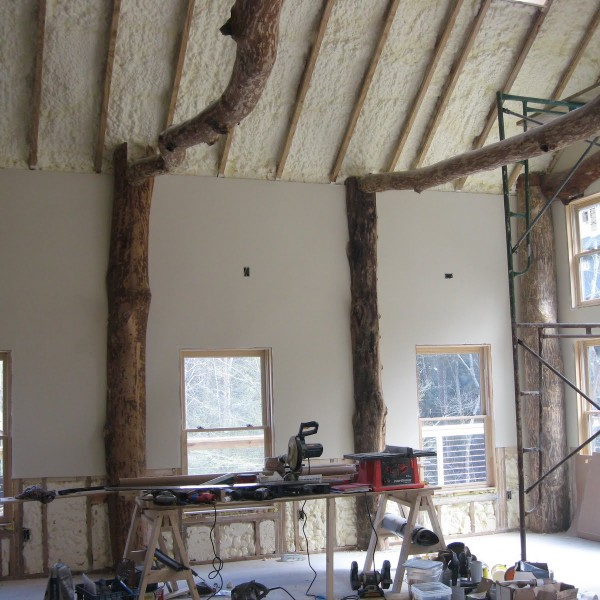 Ceiling and dry wall in great room