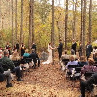 Wedding at Laughing Waters in the fall