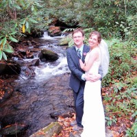 Bride and Groom by Hickory Nut Creek