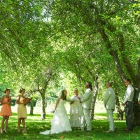 Wedding In the orchard at Laughing Waters