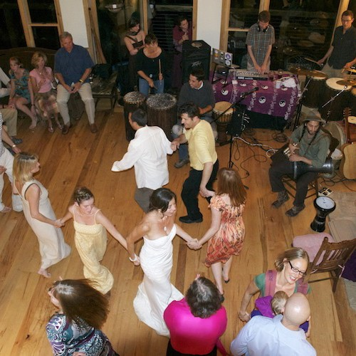 Wedding dancing in Laughing Waters