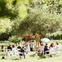 ceremony in the apple orchard