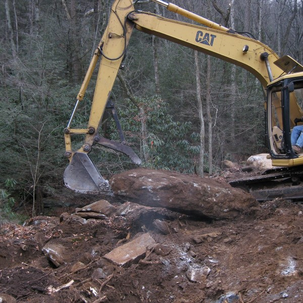 clearing the site - december 2008