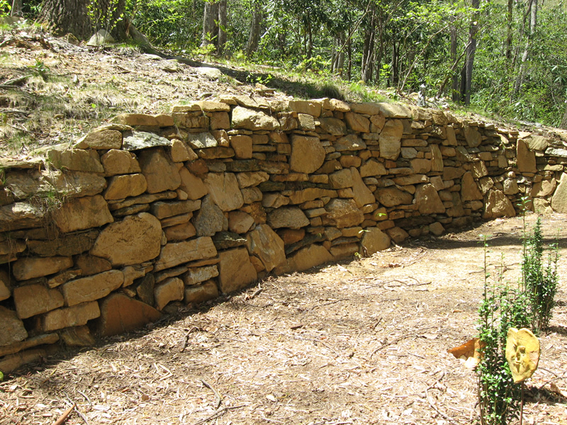 Hand-Crafted Stone Retaining Wall