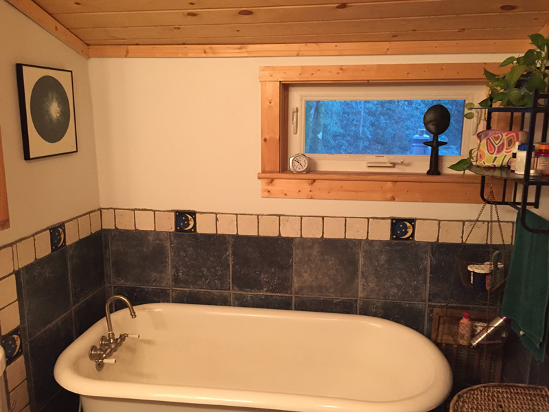 Salvaged Clayfoot Bathtub