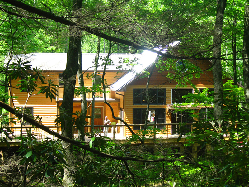 Nestled into the Forest next to Hickory Nut Creek