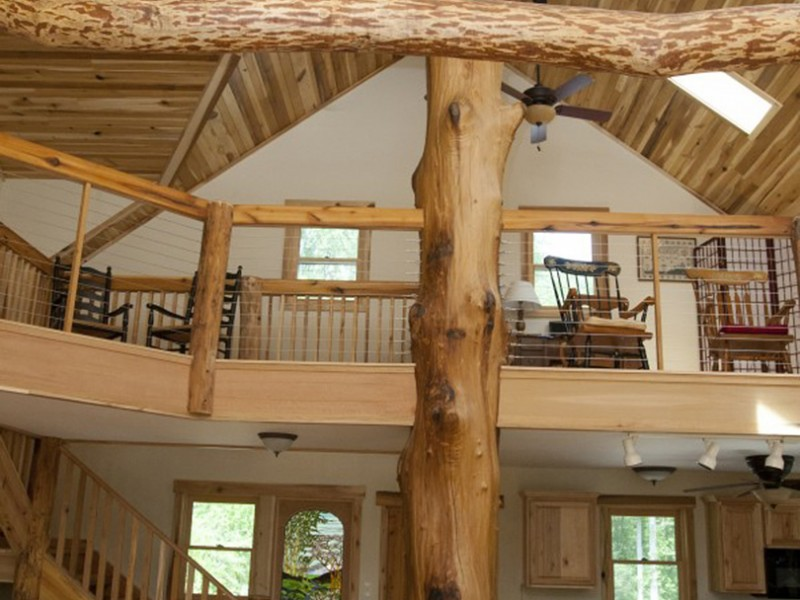 Wood for Ceiling and Giant Poplar Tree Milled On-site