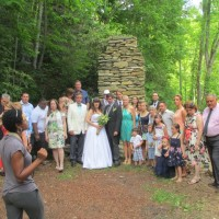 wedding at the old stone chimney