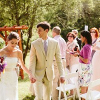 wedding in the orchard under the arbor