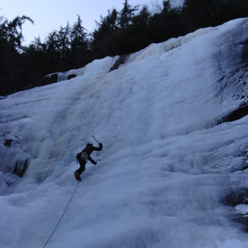Ice Climbing in Hickory Nut Gorge