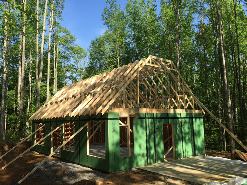 132 Fern Cove Lane - walls and rafters