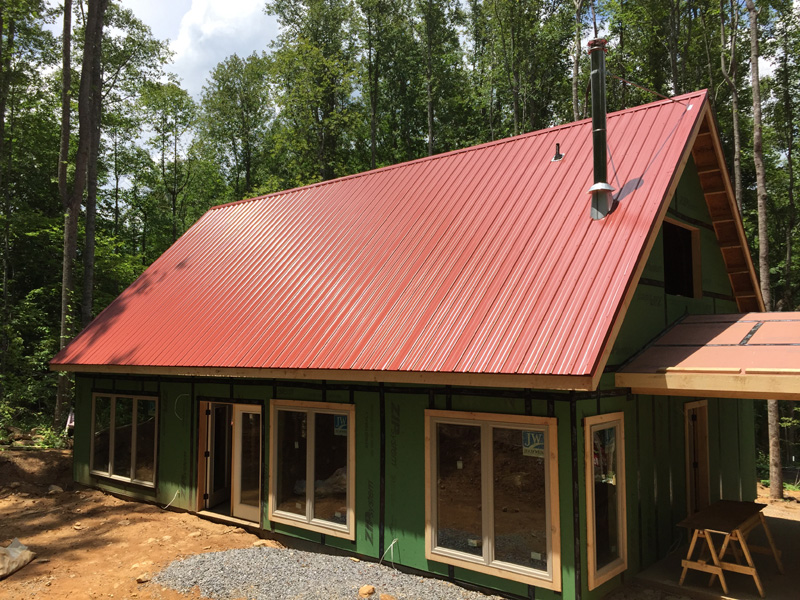 132 fern cove lane barn red metal roof